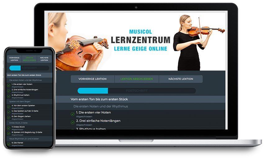 Geige lernen: Geht auch selbstständig mit Online Kursen von Musicol.de