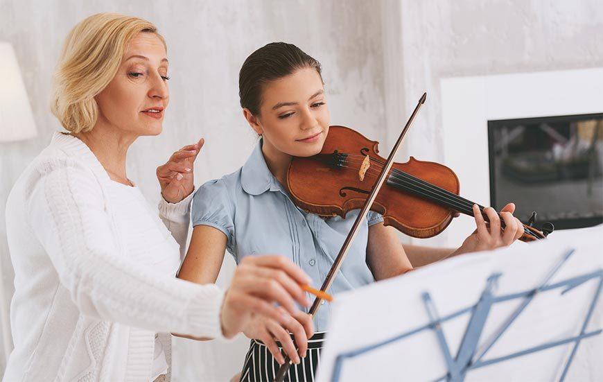 Geige lernen mit einem Privatlehrer