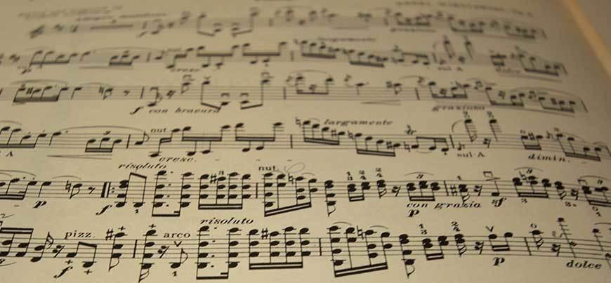 Schöne Kompositionen für die Geige