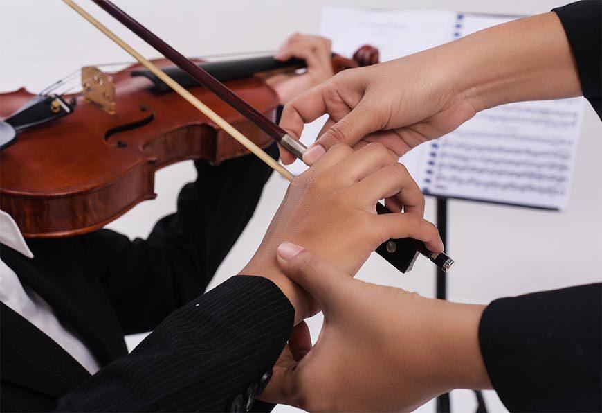 Unterrichtsformen, um Geige zu lernen